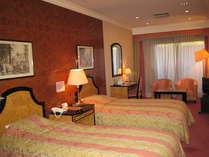 ホテル棟の洋室ツインのお部屋♪