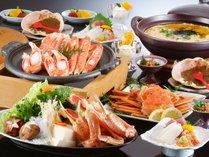 ≪お手頃価格でお得に☆松葉ガニ鍋&焼コース≫おはようプリン+熱々のカニ天付き♪