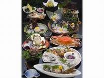 【夏】限定コースのお料理「夏づくしの膳」例(盛4名)