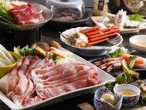 お料理例:八鹿豚しゃぶ&但馬牛すき小鍋&紅カニ♪平日限定で1万円~♪