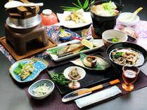 ■清盛特製の豆乳鍋のお食事一例■当館大人気!素材にこだわった濃厚な味わいです。