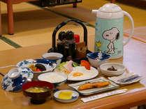 田舎ならではの地産地消の郷土食が楽しめる和朝食です