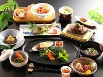 【爛ran会席】焼きたての信州牛の石焼ステーキと信州の旬の食材で色なす会席をお楽しみください。