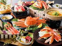 <かに会席>黒毛和牛陶板焼き・魚造りが付いた贅沢コース