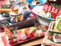 料理内容アップの和食会席(イメージ)