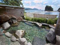 ☆【渚の露天風呂(婦人用)】温泉は化粧の湯と言われているツルツル・スベスベの泉質