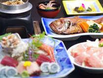 ☆【海の幸会席】名物・金目鯛煮つけを始め静岡銘柄豚のしゃぶしゃぶ・蟹味噌汁・お造り盛り合せなど