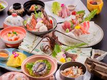 ☆伊勢海老のお造り、鮑の酒蒸し他のお料理(イメージ)