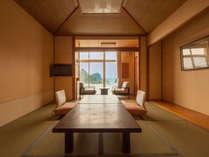 【オーシャンビュー】堂ヶ島温泉ホテルのスタンダード和室10畳(客室一例)