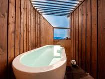 【オーシャンビュー露天風呂】付き和室10畳<4階ベランダ付>(客室露天風呂一例)