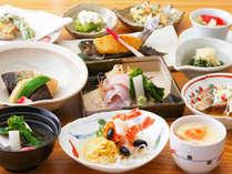 *食事一例/クチコミ好評価!川魚、肉、野菜と地元の食材中心の手作りの懐石料理をご用意致します。