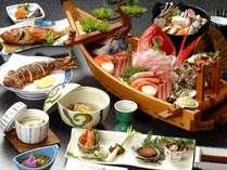 夕食一例/舟盛りプラン♪