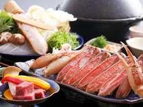 【カニすき鍋】&【和牛ステーキ】幸せコンビde大満足!Lucky価格deサクッとカニ旅≪朝食すき焼≫