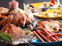 冬の人気№1カニ料理の【満腹かにフルコース】の例(一部2人前)