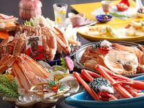 冬の人気No1カニ料理の【満腹かにフルコース】の例(一部2人前)