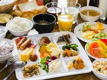 道産食材を使用した朝食盛り付けイメージ