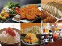 【お米、野菜、卵など広島を感じる朝食】