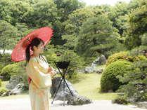 ホテル玉泉 曲水の庭 季節や時間、天候によって刻々と変化し、さまざまな表情をみせてくれます。