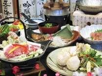 「八幡平ポークの陶板焼き」「カサゴ1本煮」「鶏つみれの山菜鍋」