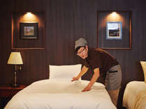 一部屋一部屋丁寧に清掃し、お出迎えの準備を致します。