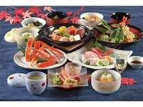 ズワイ蟹・天そばが付いたボーリューム満点!計十二品の和食膳「汐膳」