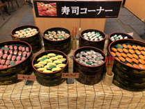 寿司コーナー(夕食バイキング会場)