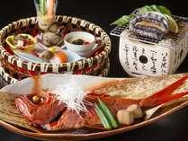 金目鯛の姿煮、アワビなどをご堪能頂けます(一例)