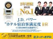 受賞記念!2015年度顧客満足度JDパワー1位&日本経営品質賞受賞記念!