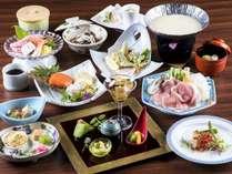 山形県産・米の娘豚の「豆乳しゃぶしゃぶ」を中心とした和会席膳