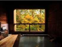 【かもしか遊びの湯】秋の紅葉を愛でながら温泉で至福のひと時を(紅葉9月下旬~10月下旬)