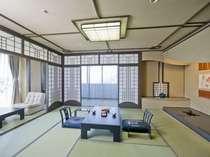 【特別室】松風楼8階にある角部屋801号室 当館唯一の和洋室