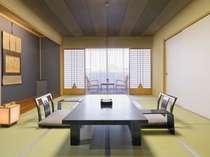【和室スタンダード】江戸の伝統的様式とモダンの調和が新しい客室(10~12畳)