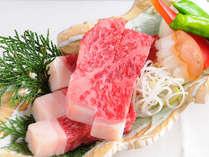 愛媛のブランド牛「伊予牛」の口の中でとろける食感をお愉しみください。