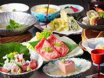 -レストランお昼のコース 藍(あい)- 月替りの旬の食材を用いた会席 ※献立はイメージです。