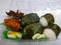 お弁当 熊野古道散策のお供におふくろの味をどうぞ。