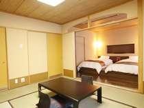 【和洋モダンルーム】和室10畳+ツインベッドを備えた和モダンなお部屋です。