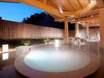 日本初の真珠成分を配合した露天風呂「パールオーロラ風呂」※石風呂 (※温泉ではございません)