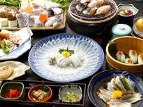 **ふぐ料理9品を含む全13品を愉しもう♪ふぐ松コース