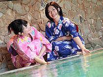 源泉大浴場は内風呂・露天風呂ともに「イオウ源泉」24時間入浴OK!お肌つるっつる