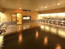 【温泉 壱の湯】広々とした温泉大浴場にて、疲れを癒してください。