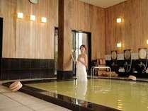 「にごり湯」の天然温泉大浴場 15:00~翌朝10:00(深夜30分間は清掃の為利用不可