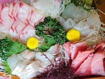 *【夕食一例】伊豆に来たなら新鮮なお刺身を!※内容は日によって異なることがあります。