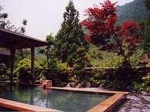 紅葉から新緑まで美しい山並みを望みマイナスイオンたっぷりの露天風呂