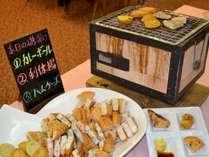 銚子名物:(嘉平屋)の磯揚げ、朝食会場にて提供