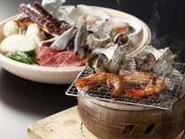 サザエ・ボタン海老・千葉県産牛も炭火で焼けばより美味に・・・。