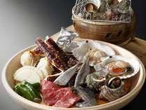 新鮮食材を炭火で・・・、野趣溢れるお料理です。
