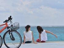 【レンタサイクル】海と太陽を感じながら、のんびり宮古島めぐりなんていかがでしょう。
