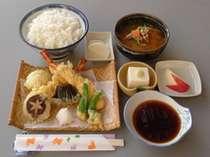2食付  ビジネスプラン 天ぷら定食 とぴあ温泉 Q