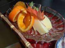 お夜食ぷらん季節のフルーツです  季節ごとにフルーツが楽しめます!