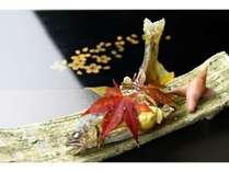 千曲川産鮎の塩焼き1例